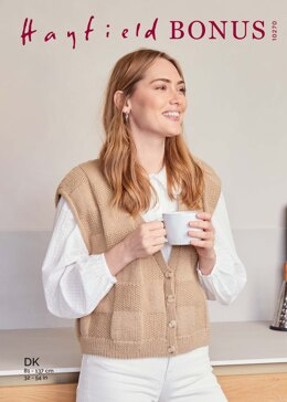 Waistcoat in Hayfield Bonus DK - 10270 - Downloadable PDF