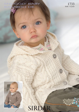Coat in Sirdar Snuggly Baby Bamboo DK - 1733 - Downloadable PDF