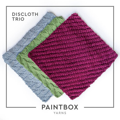 Dishcloth Trio in Paintbox Yarns Recycled Cotton Worsted - Downloadable PDF