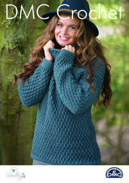 Snuggle-Up Sweater in DMC Woolly 5 - 15415L/2 - Leaflet
