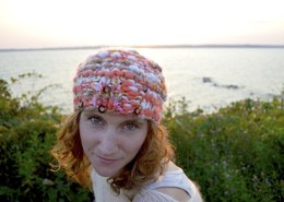Favorite Beret in Knit Collage Gypsy Garden