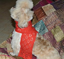 Two Doggie Christmas Scarves
