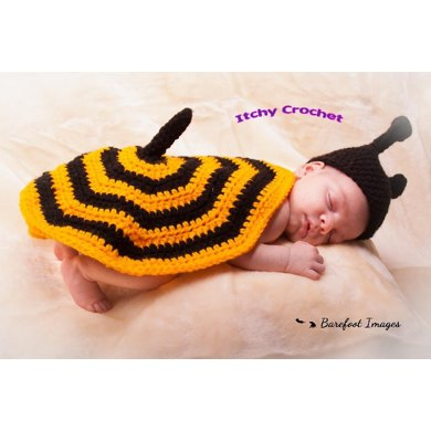 Bumble bee baby photo props