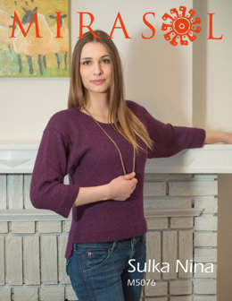 Seed Stitch Trim Sweater in Mirasol Nina - M5076