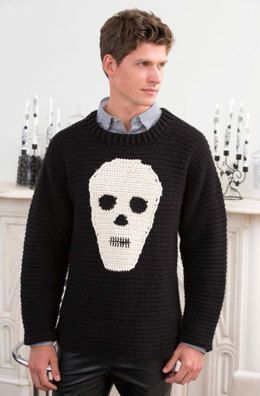 Skull Sweater in Red Heart Soft - LW4414EN