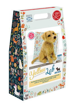 The Crafty Kit Company Dinky Dogs Yellow Labrador Needle Felting Kit - 190 x 290 x 94mm