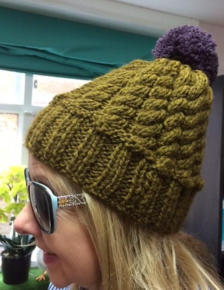Chunky Cable Hat Knitting pattern by Monica Russel