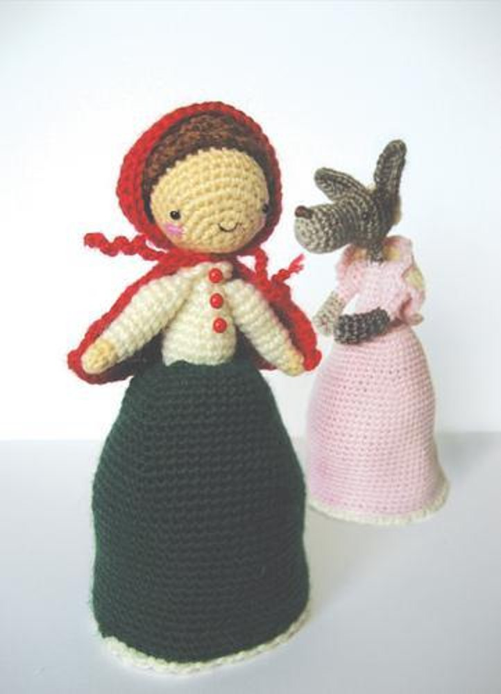 Little Red Riding Hood & The Wolf Topsy Turvy Doll Crochet ...