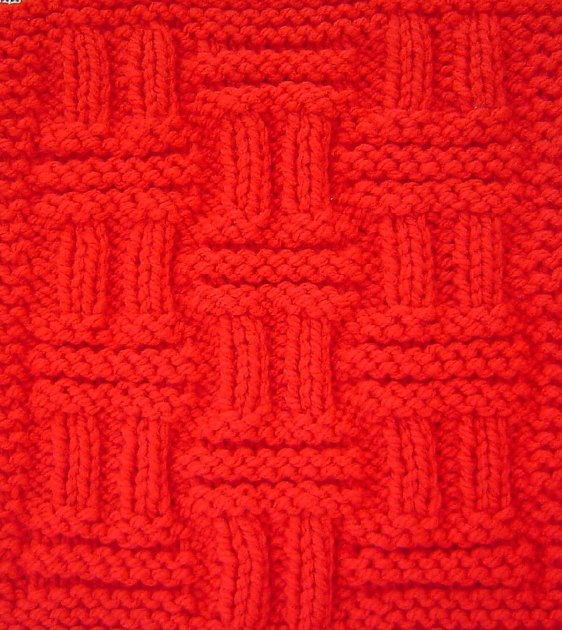 Double Basketweave Square Knitting pattern by Terry Morris Knitting Pattern...