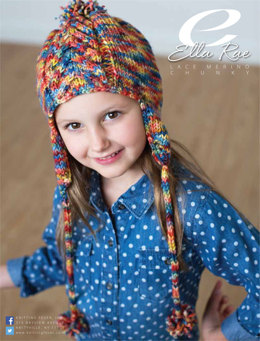 Cable Beanie with Earflaps in Ella Rae Lace Merino Chunky - ER13-04 - Downloadable PDF