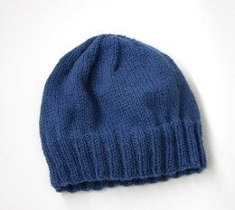 Adult's Simple Knit Hat in Lion Brand Wool-Ease - L20403