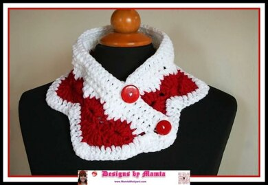 Crochet Cowl Pattern Valentine Neck Warmer Heart Love
