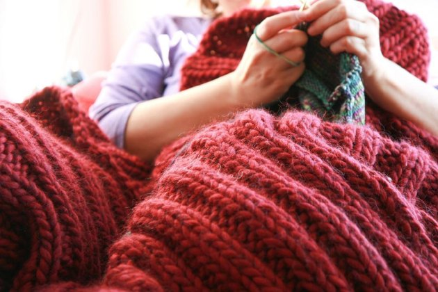 A Blanket For Seriously Cold People Knitting Pattern By