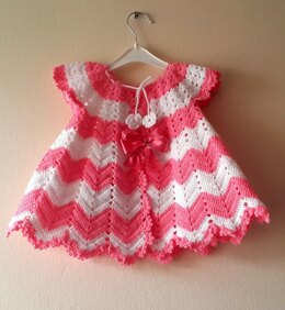 Pink And White Baby Dress Two Colors