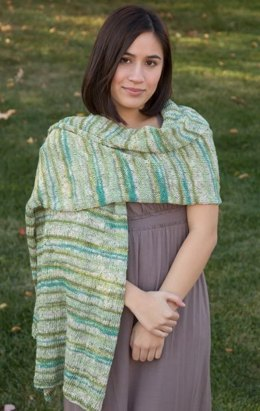 Wrap in Classic Elite Yarns Bello Lino - Downloadable PDF
