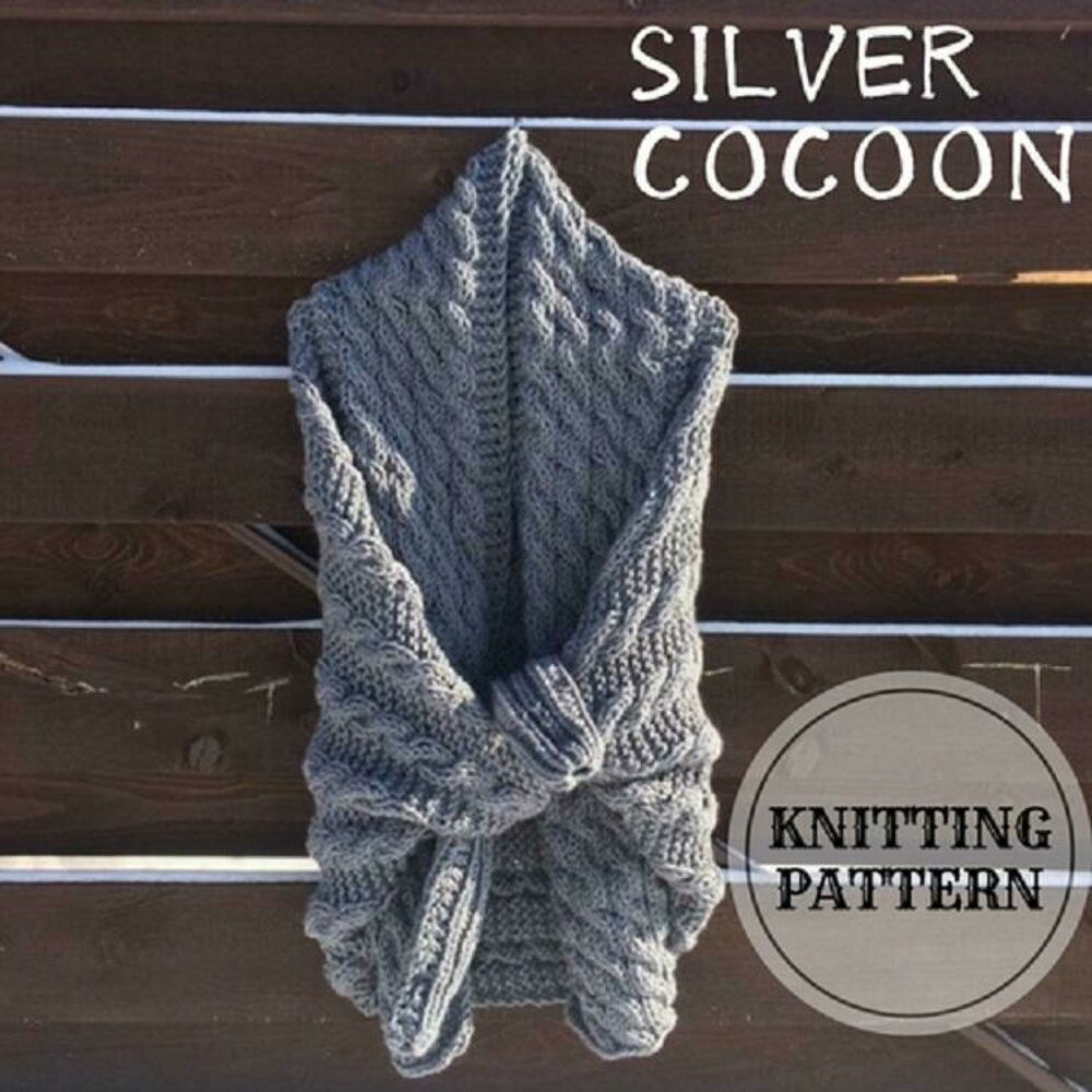 7f98663a0 Silver Cocoon Shrug Knitting pattern by Bummbul