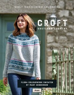 Flora Colourwork Sweater in West Yorkshire Spinners The Croft Shetland Country - DBP0085 - Downloadable PDF