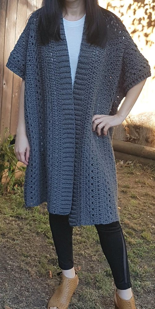 So Sleek Everyday Ruana Crochet Pattern By Nicole Wang