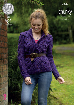 Sweater & Cardigan in King Cole Chunky Tweed - 4744 - Leaflet