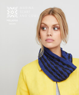 Marina Scarf and Cowl in MillaMia Naturally Soft Cotton - Downloadable PDF