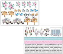 Dress My Craft Image Sheet 240gsm A4 2/Pkg - Magnolias