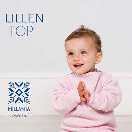 """Lillen Top"" - Top Beginners Knitting Pattern For Babies in MillaMia Naturally Soft Merino"