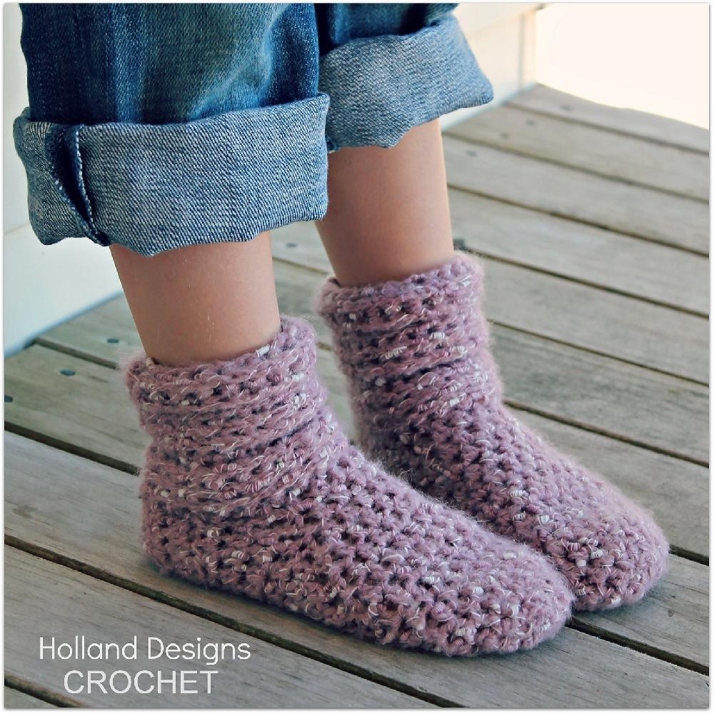 Slouch Boots - Toddler & Youth Crochet pattern by Lisa van ...