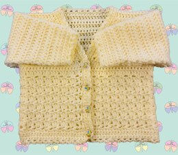 Easy Patterned Panel Cardigan for Baby