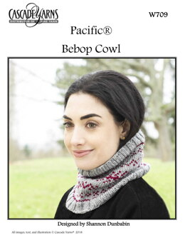 Bebop Cowl in Cascade Yarns Pacific - W709 - Downloadable PDF