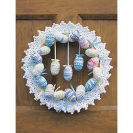 Happy Easter Wreath in Lily Sugar 'n Cream The Original Print