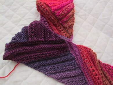 Slopes Scarf Knitting Pattern By Knitting Buzz Designs