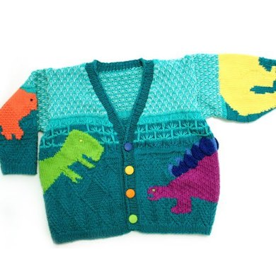 Stefans Dinosaurs Sweater in Tahki Yarns Cotton Classic Knitting Patte...