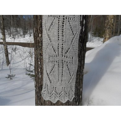 The Cross of Christ Lace Scarf