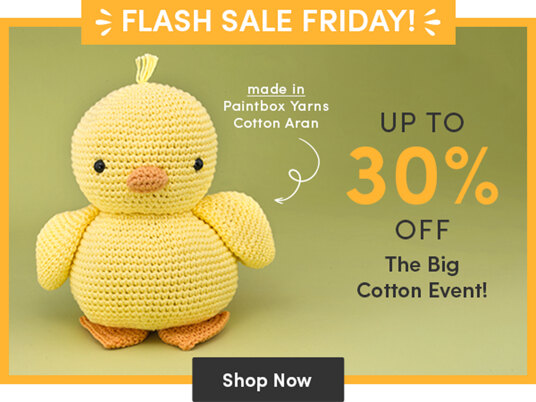 Up to 30 percent off selected cotton yarns!