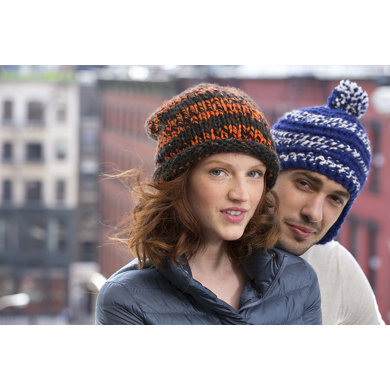 Wythe Slouch Hat in Lion Brand Hometown USA Multi - L32061