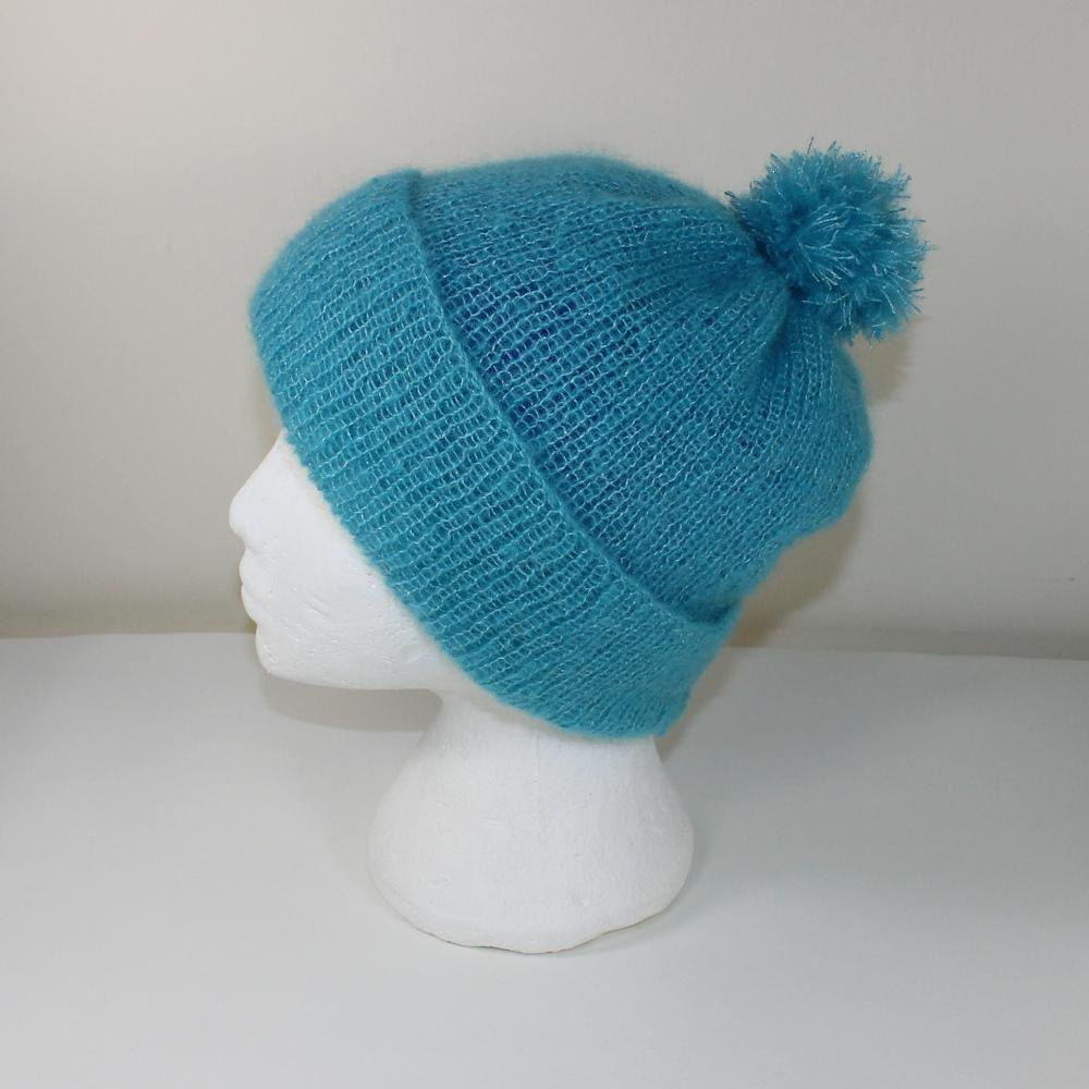 Party Angel Bobble Beanie Hat Knitting pattern by ...