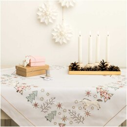 Rico Unicorn Embroidery Tablecloth Kit