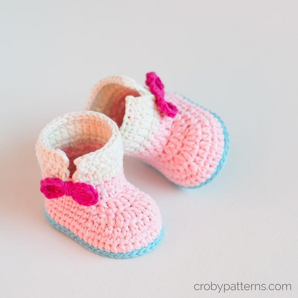 Crochet Baby Unicorn Baby Booties Crochet pattern by Croby ...