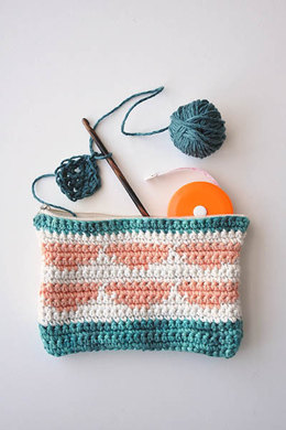Citrus Pouch in Fibra Natura Good Earth Multi - 1925 - Downloadable PDF