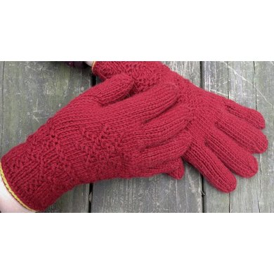 Toasty: Twined Knitted Gloves