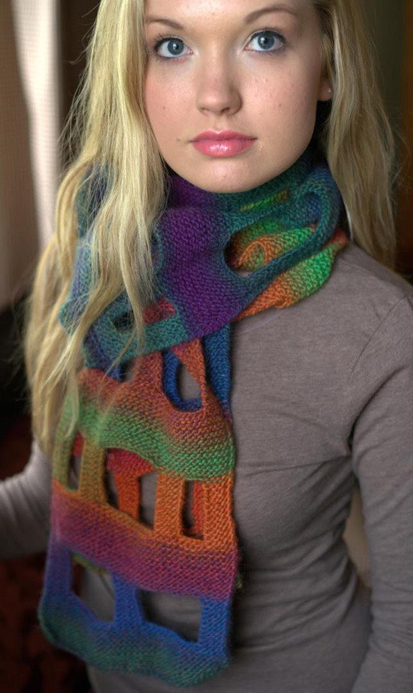 Boxy Scarf In Plymouth Gina F576 Knitting Patterns