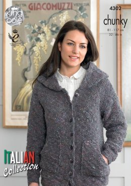Hoody and Top in King Cole Verona Chunky - 4302 - Leaflet