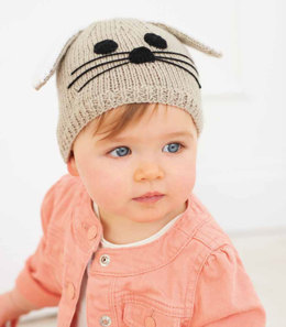 Bunny Hat in Rico Baby Classic DK - 201