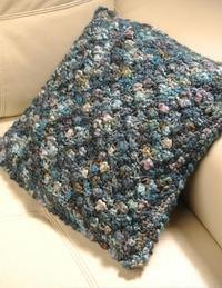 Berry Pillow Cover in Misti Alpaca Baby Me Boo Hand Paint - 2049