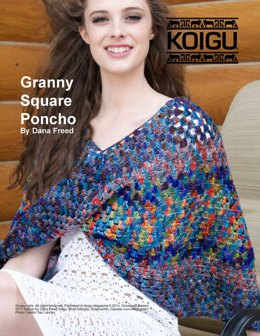 Granny Square Poncho in Koigu Painters Palette Premium Merino - Downloadable PDF