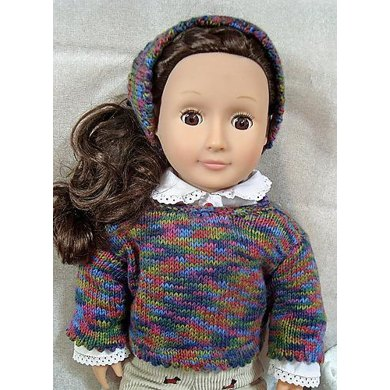 Pretty in Picots Doll Sweater