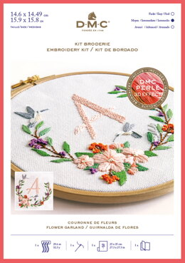 DMC Flower Garland Kit - Large - Embroidery Kit - 15cm x 14cm  - TB149