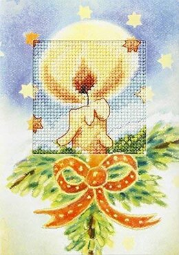 Orchidea Christmas Candle Card Cross Stitch Kit - 6209