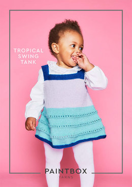 Tropical Swing Tank in Paintbox Yarns Simply DK - DK-Baby-002 - Downloadable PDF