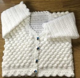 Honeycomb Crochet Cardigan Pattern for Baby or Child